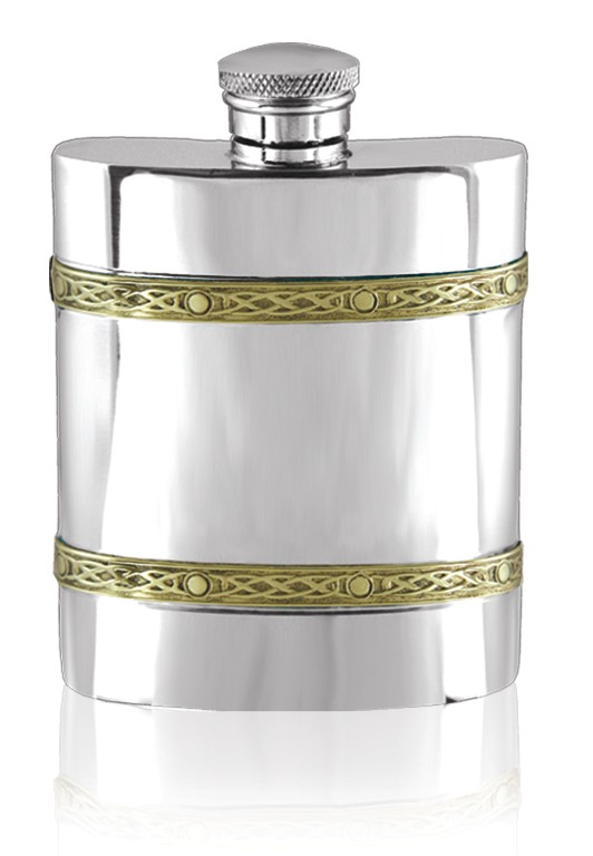 Personalised Pewter Golden Kells Hip Flask