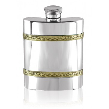 Personalised Pewter Golden Kells Hip Flask Perfume Sample