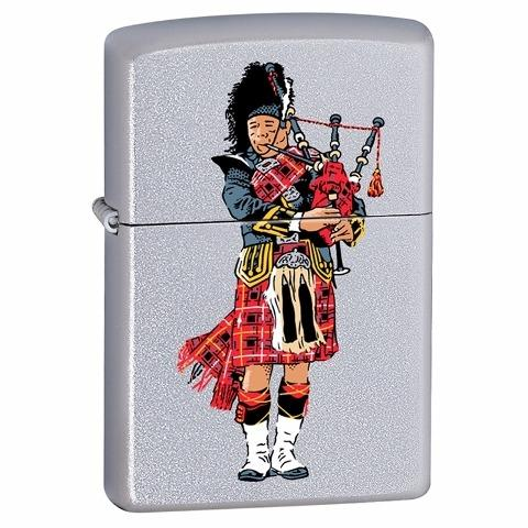 Personalised Scottish Bag Piper Zippo Lighter