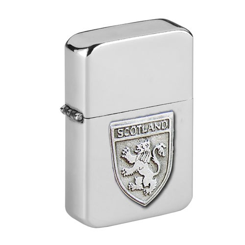 Personalised Scottish Lion Wind Proof Storm Petrol Lighter Engraved Free