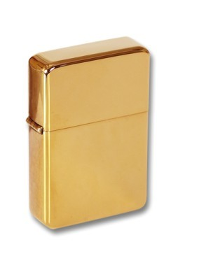 Personalised Solid Brass Petrol storm Lighter