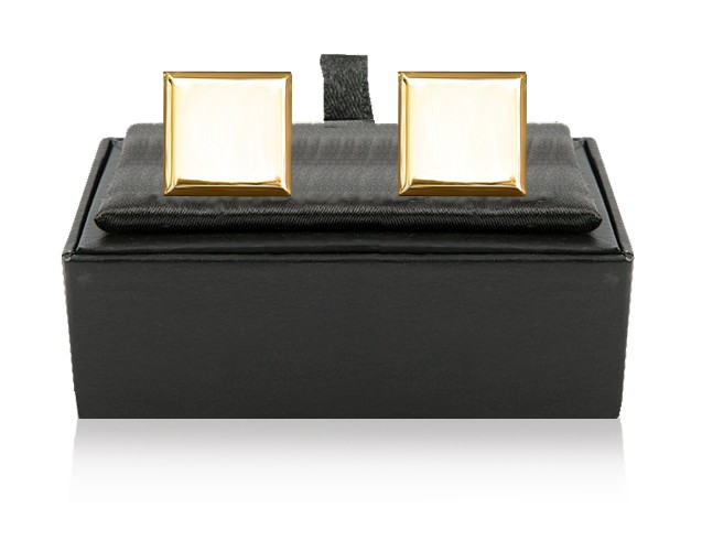 Personalised Square Cufflinks Gold Plated