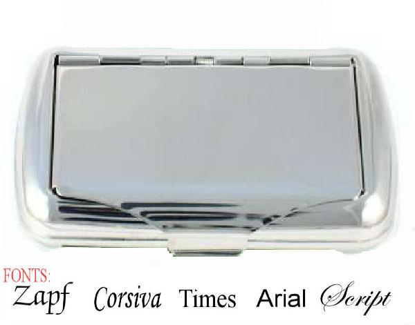 Personalised Stainless Steel Tobacco Case