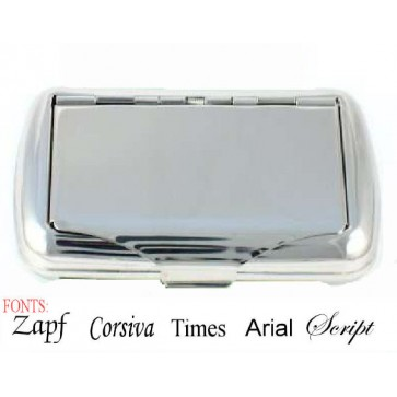 Personalised Stainless Steel Tobacco Case Perfume Sample