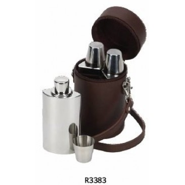Leather Covered Hip Flasks
