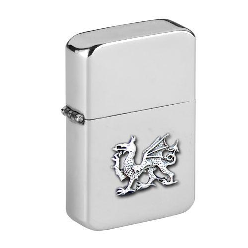 Personalised Welsh Dragon Wind Proof Storm Petrol Lighter Engraved Free