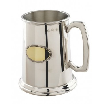 Pewter Tankard with Brass Oval in Gift Box Perfume Sample