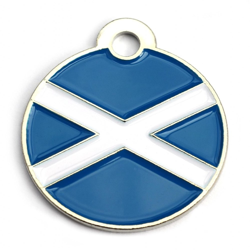 Scottish Round Pet Tag