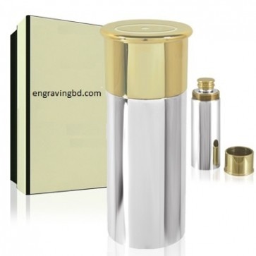 Shotgun Cartridge 16oz Pewter Hip Flask - Perfume Sample