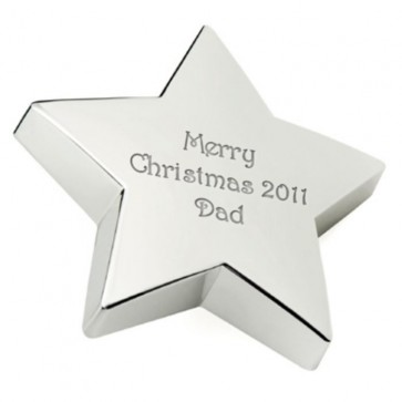 Silver Star Paperweight Perfume Sample