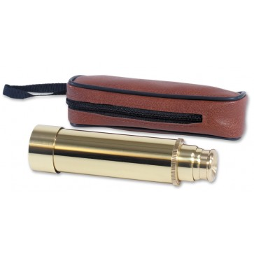 Solid Brass Telescope & Case Perfume Sample