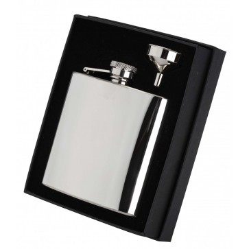 Stainless steel 6oz hipflask Perfume Sample