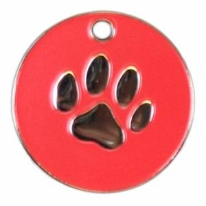 Stainless Steel Paw Pet Tag