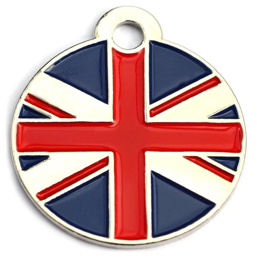 Union Jack Round Pet Tag