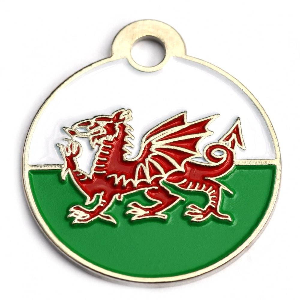 Welsh Round Pet Tag