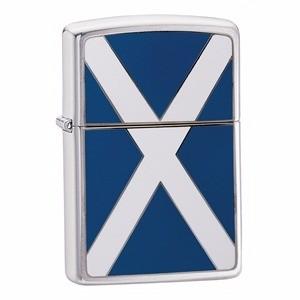 Zippo Brushed Chrome Scotland Flag Lighter