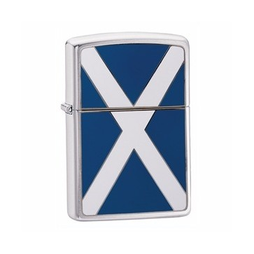 Zippo Brushed Chrome Scotland Flag Lighter Perfume Sample