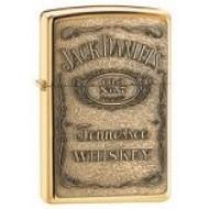 Zippo Jack Daniels Embossed Brass Genuine Zippo Lighter