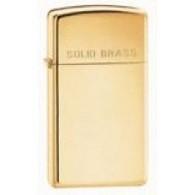 Zippo Personalised Slim Solid Brass Genuine Zippo Lighter