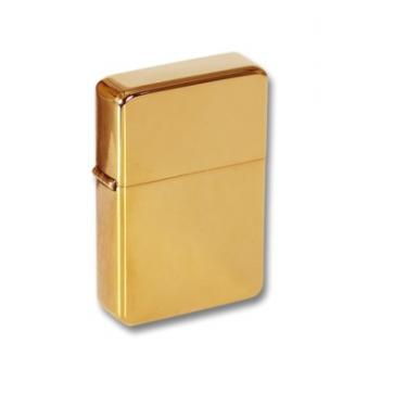 Zippo Personalised Solid Brass Petrol storm Lighter Perfume Sample