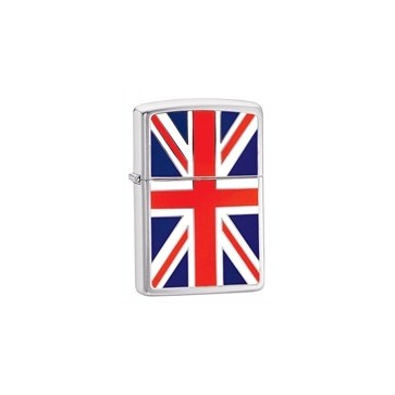Zippo Personalised Union Jack, High Polish Chrome Genuine Zippo Lighter Perfume Sample